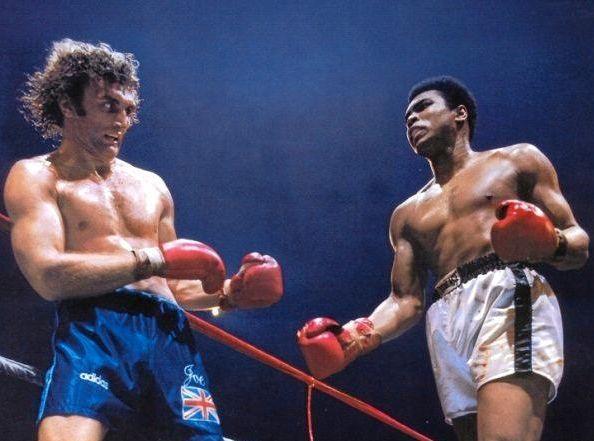 Joe Bugner faces off against Muhammed Ali.