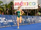 IT'S a long way from Fairholme College's athletic track to the top of the triathlon world.
