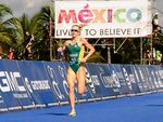 Margo Mackintosh on her way to victory in the World Triathlon Grand Final 35-39 AG Female Sprint in Mexico.
