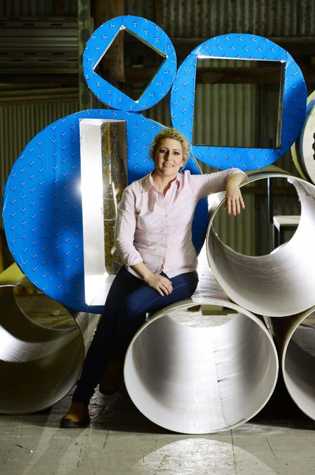 Kaitlyn Moore owner of O'Connell Agencies specialise in manufacturing concrete formwork at Blackstone. Photo: David Nielsen / The Queensland Times