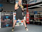 HUNTING HERMAN: Victorian heavyweight Justin Whitehead training at Smithy's Gym yesterday ahead of his showdown with Toowoomba's Herman Ene-Purcell at Rumours International tomorrow night.