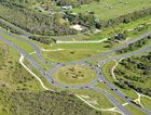 FROM ABOVE: The Caloundra Rd roundabout where Bells Creek Arterial Rd will eventually link up.