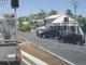 Dashcam captures ute running red light.