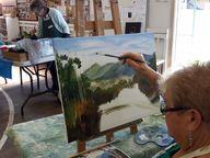 Grafton Art Club Art Display - a display of work by members - all for sale. Celebrating  the Golf Club & Jacaranda Week