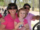 CHARITY DAY: Regan Clibborn with her husband Scott and daughter Jasey.