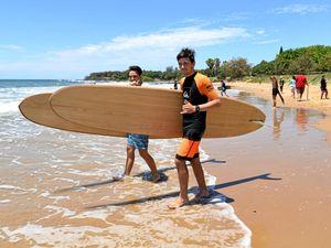 Surf's up for Bundaberg aquatics students