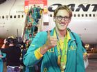 Australian Olympic team gold medalist Mack Horton is welcomed home from Rio de Janeiro on his return from the XXXI Summer Olympics, in Sydney.