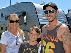 The Sunshine Coast Home Show and Caravan, Camping and Boating Expo, Kawana Sports Precinct, Bokarina. Sue Ohlin with Joshua, 9, and Jai Don.