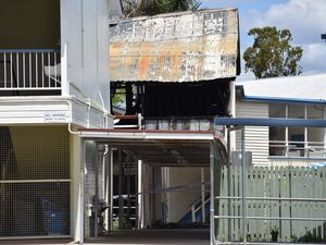 Police are investigating a fire that destroyed a building at Biloela State High School overnight.
