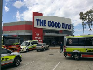 Two Good Guys staff taken to hospital over toxic smell