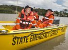 Patrolling are (from left) Rachael Rowe, Peter Keeton and Taufa Halaufia during the SES training day at the Toowoomba Showgrounds.