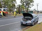 EMERGENCY services have been kept busy this morning by accidents on wet roads around Bundaberg.