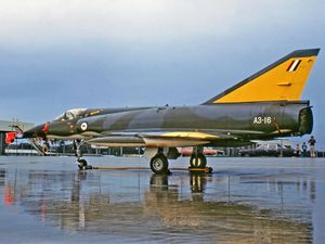 Queensland Air Museum's latest major historical aircraft acquisition, the jet fighter GAF MIRAGE III0 (FA) A3-16, arrived at Caloundra this morning, October 24, 2016.
