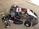 Aaron Nelson from Bracken Ridge won the state title at the Speedway Karting Association of Australia Queensland Titles.