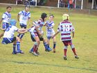 Goondiwindi is a town with a great rugby league tradition and it starts in the juniors. George Baker is the ball carrier this season against Collegians.