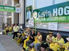 "THE activist group Knitting Nannas held a protest yesterday at MP Kevin Hogan's office in Lismore, attempting to arrest him for ""crimes against humanity""."