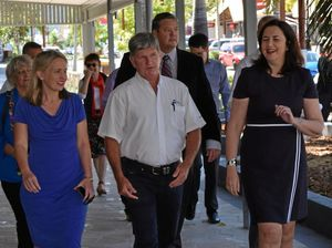 ON THE MOVE: Queensland Premier Annastacia Palaszczuk and Tourism Minister Kate Jones toured Heart Hotel this morning.