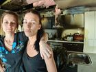LOCAL mum in tears after fire tore through home.