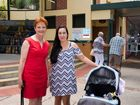 WOMAN ABOUT TOWN: Senator Pauline Hanson meets Gympie local Jo Medley in Mary St during her visit yesterday.