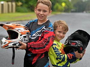 Dirt Bike Racing brothers Jackson,10, and Cooper,6, Archibald of Buderim. Photo: Warren Lynam / Sunshine Coast Daily