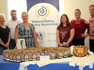 Evans Head bakery team with the 2016 Lismore Show awards