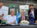 ELATED: Team Scotland will call the Sunshine Coast home ahead of the 2018 Gold Coast Commonwealth Games.