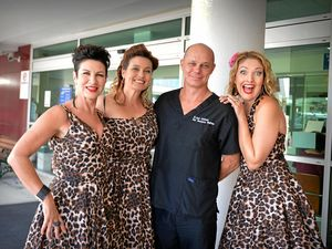 ON WISHLIST: Last year's Jazz and Wine festival launch with The Kitty Kats, Michelle Brown, Susanne Campbell and Renae Suttie with Dr Jason Lindeman .