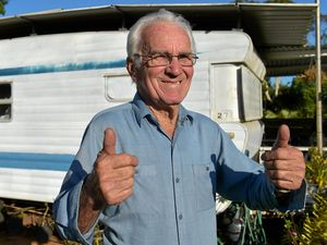 THRILLED: Wally Wallace is happy he can stay at the Woombye Gardens Caravan Park.