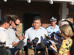 Dreamworld CEO Craig Davidson speaks to the media after four people died at the park. Source News Corp
