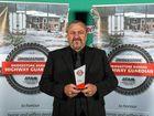 HIGHWAY GUARDIAN: Brave truck driver Renzo Bruschi with the Bridgestone Bandag Highway Guardian Award.