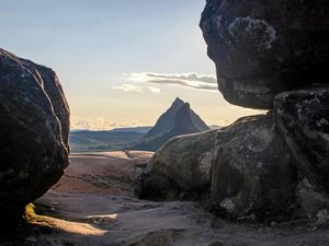 Mount Ngungun summit, Glasshouse Mountains is helping to sell the Sunshine Coast as more than a beach.