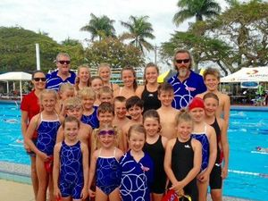 LIL CHAMPS: The Cannonvale Canons performed strongly at the Great Barrier Reef A-grade Swim Carnival.