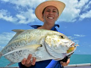 CATCH OF THE DAY: Lucy's tea leaf trevally, which have been prolific the last week.