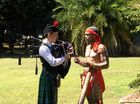 A DIDGERIDOO and bagpipes player took the opportunity to learn about each other's culture ahead of Saturday's Global Grooves event.