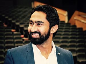 Manmeet Alisher shared this photo on his Facebook page. The 29-year-old was killed on Friday when a passenger threw 'an item' at him that set on fire.
