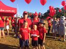 Palmwoods was turned into a sea of red as thousands gathered for the annual Walk for Daniel.