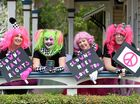 Lismore Clinic Friendly Clowns Mel Rumble, Jodie McLean, Maree Cocciola, and Kerry Drechsler are looking forward to the sold out Pink Halloween event this weekend.