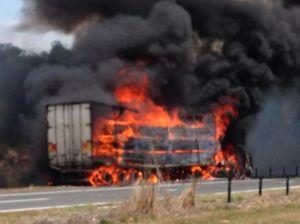 Truck crash closes M1 at Chinderah