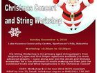 "Sunshine Coast Youth Orchestra will be presenting a ""Christmas Concert and String Workshop"" at Lake Kawana Community Centre on Sunday December 4, 2016"