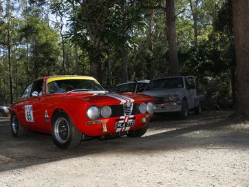 The race cars are the stars at the Noosa Hill Climb 2016 Summer Challenge