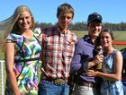 Jess Sommerlad, Lachlan Mayer, Dalton Russell, Kaila Ward, Brooke Harwood and Toby Bradley at the Chinchilla November Races.