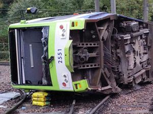 """""""Total carnage"""" with 7 dead, 50 injured as tram overturns"""