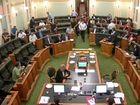 LNP MPs run into parliament in casual attire.