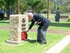 War veteran Stan Hutchins laid a wreath during a previous Remembrance Day service at Anzac Park.