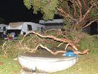Storm damage at the Dicky Beach Caravan Park