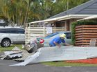 <strong>UPDATE: </strong>Residents in the Dicky Beach caravan park smashed by Sunday night's supercell storm have been evacuated.