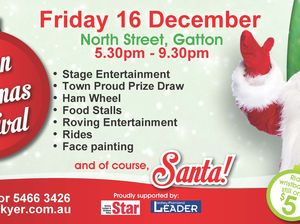 The Gatton Christmas Carnival - a free Christmas celebration for the community.