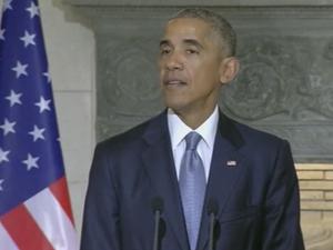 """Barack Obama speaks out against """"crude nationalism"""""""