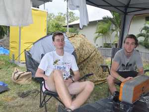 Schoolies refuse to move 'squatters camp'