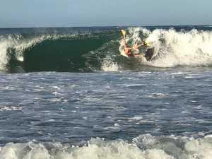 Big surf at Mooloolaba